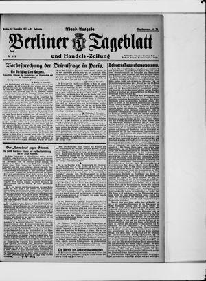 Berliner Tageblatt und Handels-Zeitung vom 10.11.1922
