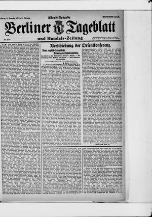 Berliner Tageblatt und Handels-Zeitung vom 13.11.1922