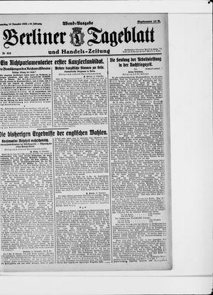Berliner Tageblatt und Handels-Zeitung vom 16.11.1922