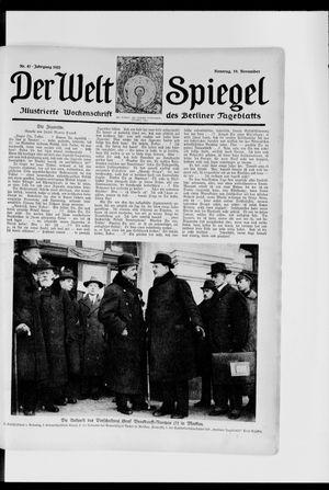 Berliner Tageblatt und Handels-Zeitung vom 19.11.1922