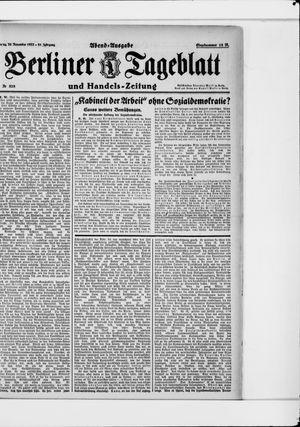 Berliner Tageblatt und Handels-Zeitung vom 20.11.1922