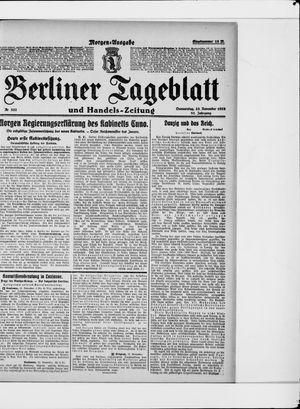 Berliner Tageblatt und Handels-Zeitung vom 23.11.1922