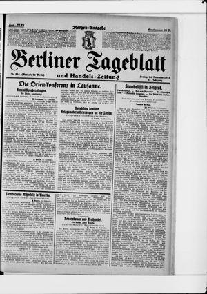 Berliner Tageblatt und Handels-Zeitung vom 24.11.1922