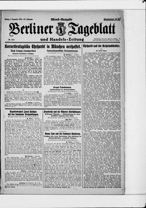 Berliner Tageblatt und Handels-Zeitung vom 01.12.1922