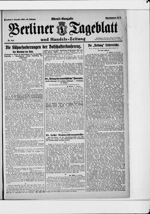 Berliner Tageblatt und Handels-Zeitung vom 02.12.1922