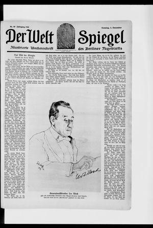 Berliner Tageblatt und Handels-Zeitung vom 03.12.1922