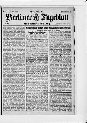 Berliner Tageblatt und Handels-Zeitung vom 04.12.1922
