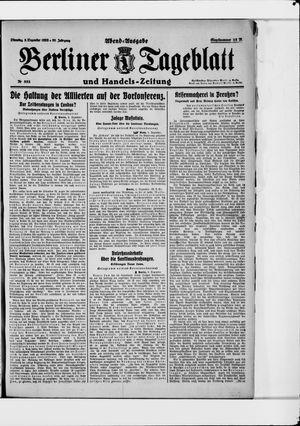 Berliner Tageblatt und Handels-Zeitung vom 05.12.1922