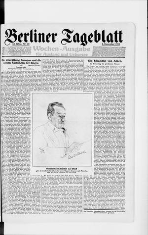 Berliner Tageblatt und Handels-Zeitung vom 06.12.1922