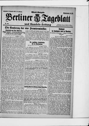 Berliner Tageblatt und Handels-Zeitung vom 09.12.1922