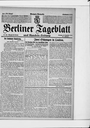 Berliner Tageblatt und Handels-Zeitung vom 10.12.1922