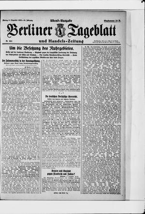 Berliner Tageblatt und Handels-Zeitung vom 11.12.1922