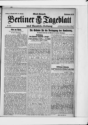 Berliner Tageblatt und Handels-Zeitung vom 12.12.1922