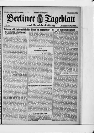 Berliner Tageblatt und Handels-Zeitung vom 13.12.1922