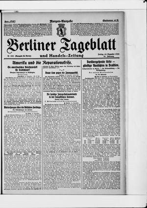 Berliner Tageblatt und Handels-Zeitung vom 15.12.1922
