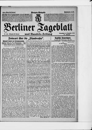 Berliner Tageblatt und Handels-Zeitung vom 16.12.1922