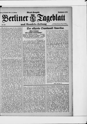 Berliner Tageblatt und Handels-Zeitung vom 18.12.1922