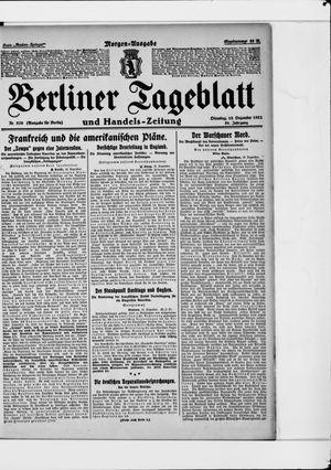 Berliner Tageblatt und Handels-Zeitung vom 19.12.1922