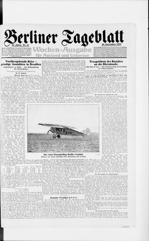 Berliner Tageblatt und Handels-Zeitung vom 20.12.1922