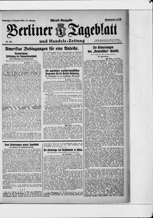 Berliner Tageblatt und Handels-Zeitung vom 21.12.1922