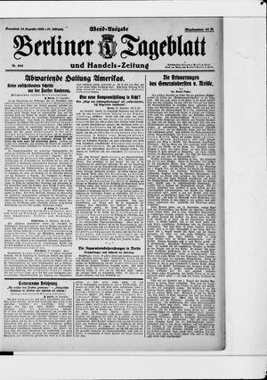 Berliner Tageblatt und Handels-Zeitung vom 23.12.1922