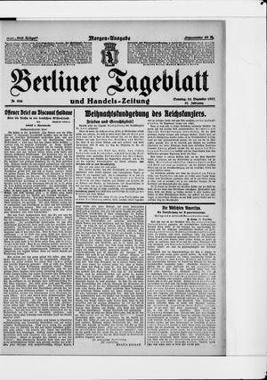 Berliner Tageblatt und Handels-Zeitung vom 24.12.1922