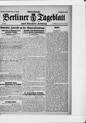 Berliner Tageblatt und Handels-Zeitung vom 30.12.1922