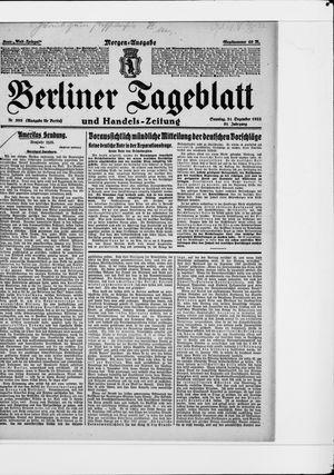 Berliner Tageblatt und Handels-Zeitung vom 31.12.1922