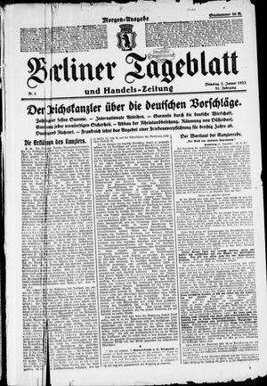 Berliner Tageblatt und Handels-Zeitung vom 02.01.1923