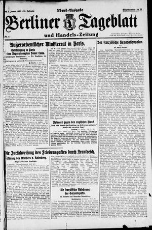 Berliner Tageblatt und Handels-Zeitung on Jan 3, 1923