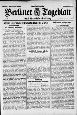Berliner Tageblatt und Handels-Zeitung vom 06.01.1923