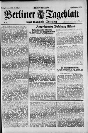 Berliner Tageblatt und Handels-Zeitung vom 08.01.1923