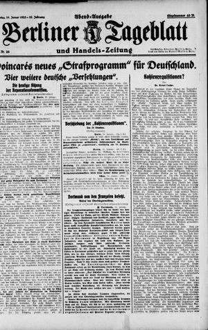 Berliner Tageblatt und Handels-Zeitung vom 16.01.1923