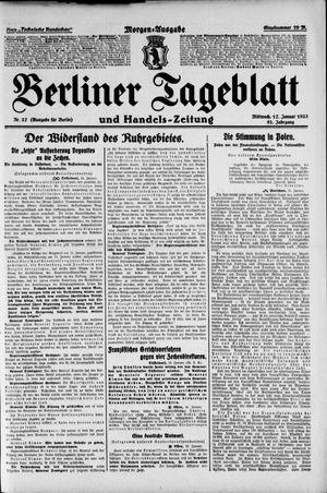 Berliner Tageblatt und Handels-Zeitung vom 17.01.1923