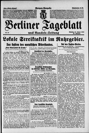 Berliner Tageblatt und Handels-Zeitung vom 23.01.1923