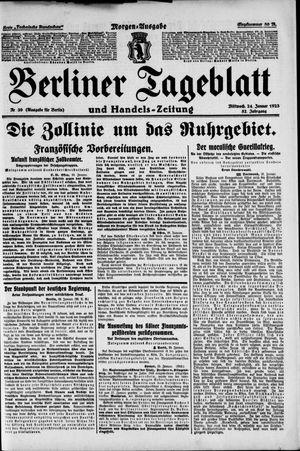 Berliner Tageblatt und Handels-Zeitung on Jan 24, 1923