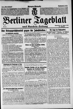 Berliner Tageblatt und Handels-Zeitung vom 25.01.1923