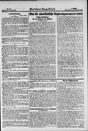 Berliner Tageblatt und Handels-Zeitung vom 27.01.1923