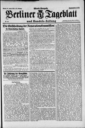 Berliner Tageblatt und Handels-Zeitung on Jan 29, 1923