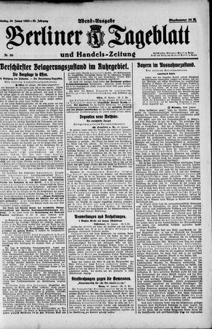 Berliner Tageblatt und Handels-Zeitung vom 30.01.1923