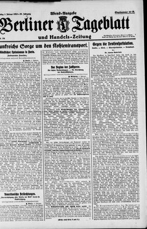 Berliner Tageblatt und Handels-Zeitung on Feb 1, 1923