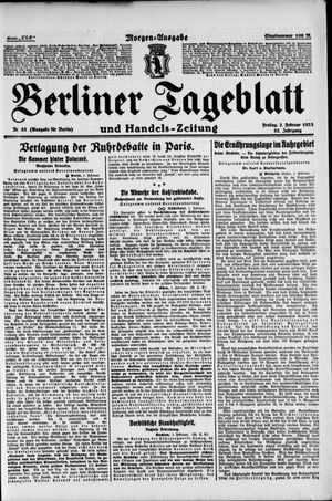 Berliner Tageblatt und Handels-Zeitung vom 02.02.1923