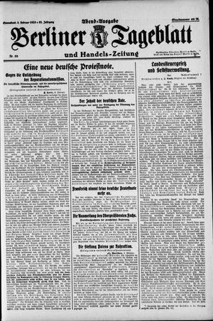 Berliner Tageblatt und Handels-Zeitung on Feb 3, 1923