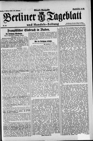 Berliner Tageblatt und Handels-Zeitung vom 05.02.1923