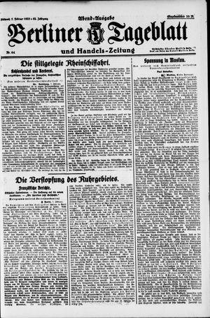 Berliner Tageblatt und Handels-Zeitung vom 07.02.1923