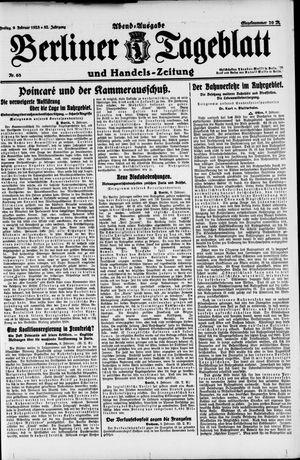 Berliner Tageblatt und Handels-Zeitung vom 09.02.1923