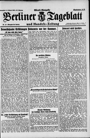 Berliner Tageblatt und Handels-Zeitung vom 10.02.1923