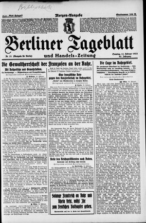 Berliner Tageblatt und Handels-Zeitung vom 11.02.1923