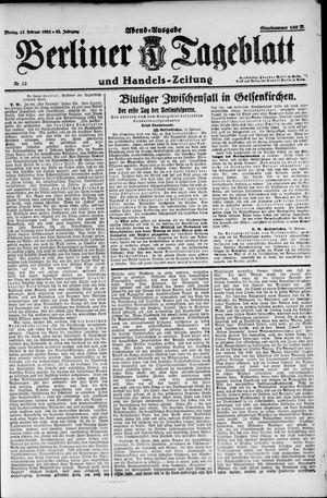Berliner Tageblatt und Handels-Zeitung on Feb 12, 1923