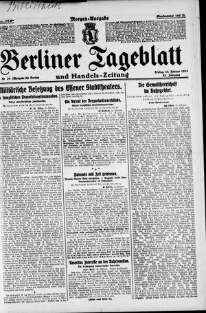 Berliner Tageblatt und Handels-Zeitung on Feb 16, 1923